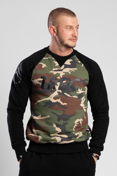 SWEATSHIRT 015 - CAMO - BLACK