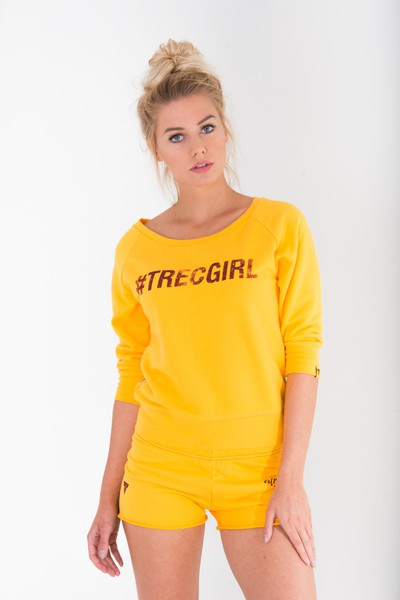 SWEATSHIRT - TRECGIRL 002 - YELLOW Glowne