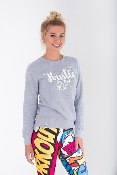 SWEATSHIRT - TRECGIRL 008 - STRONG GREY