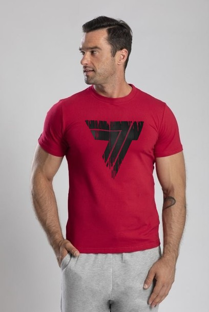 TW TSHIRT PLAYHARD 104 FADE DARK RED