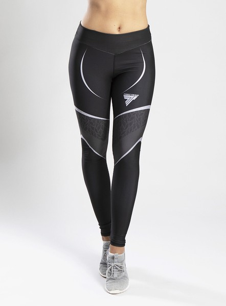 LEGGINGS TRECGIRL 35 OPTI BLACK GREY Glowne