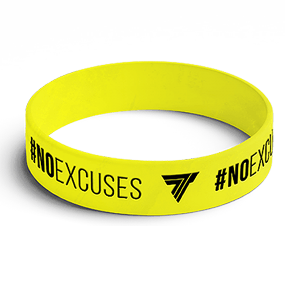 WRISTBAND opaska sportowa 007 - NO EXCUSE