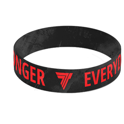 WRISTBAND 060 - STRONGER EVERY DAY - BLACK