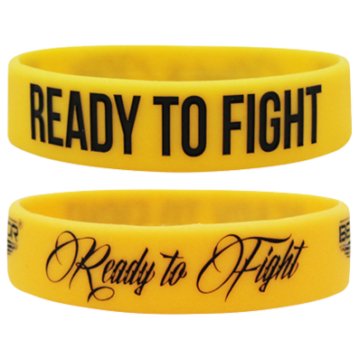 WRISTBAND YELLOW opaska sportowa READY TO FIGHT