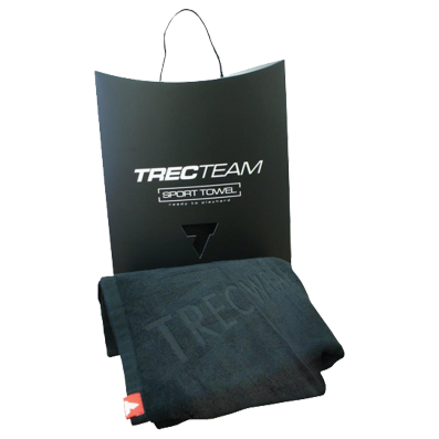 TREC TEAM TOWEL 001 TRECWEAR  - BLACK 50X70CM