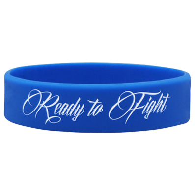 WRISTBAND BLUE opaska sportowa READY TO FIGHT