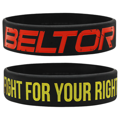 WRISTBAND BLACK opaska sportowa FIGHT FOR YOUR RIGHT