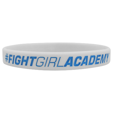 WRISTBAND WHITE opaska sportowa FIGHT GIRL ACADEMY