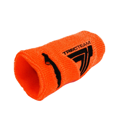SWEAT-WRISTBAND opaska sportowa  - TREC TEAM 003 - NEON ORANGE