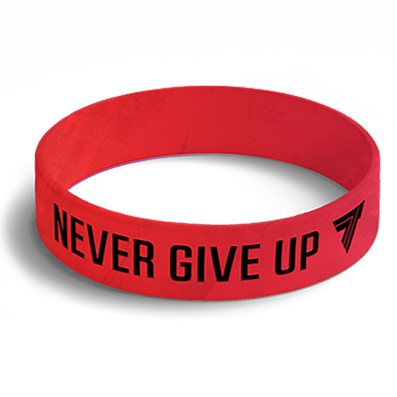 WRISTBAND opaska sportowa 002 - NEVER GIVE UP
