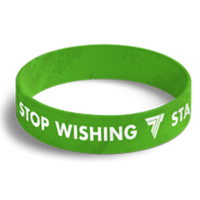 WRISTBAND opaska sportowa 034 - STOP WISHING START DOING