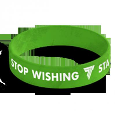 WRISTBAND opaska sportowa 034 - STOP WISHING START DOING