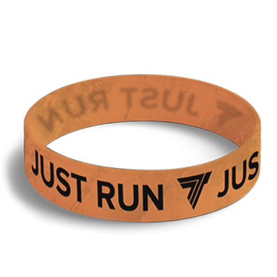 WRISTBAND 036 - opaska sportowa JUST RUN