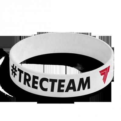 WRISTBAND 047 opaska sportowa - #TRECTEAM - WHITE