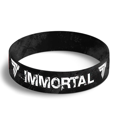 WRISTBAND 049 opaska sportowa - IMMORTAL - BLACK