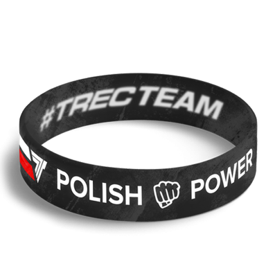 WRISTBAND 051 opaska sportowa - POLISH POWER Polish power
