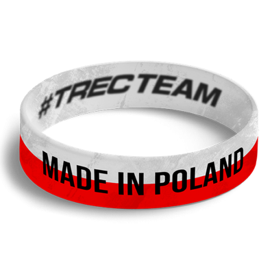 WRISTBAND 052 opaska sportowa - MADE IN POLAND - WHITE-RED Made in Poland