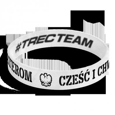 WRISTBAND 054 opaska sportowa - CZESC I CHWALA BOHATEROM - WHITE Cześć i chwała bohaterom
