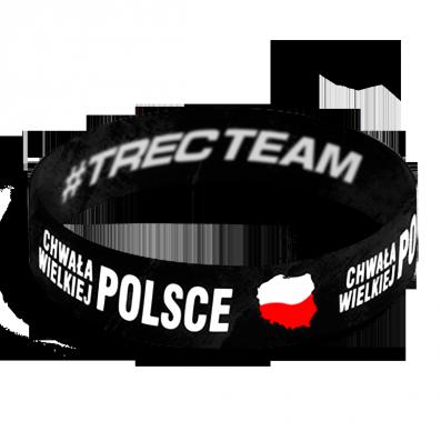 WRISTBAND 055 opaska sportowa - CHWALA WIELKIEJ POLSCE - BLACK Chwała wielkiej Polsce