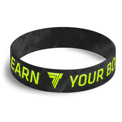 WRISTBAND 059 opaska sportowa - YOU EARN YOUR BODY - BLACK