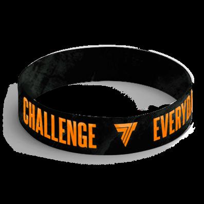 WRISTBAND 062 - CHALLENGE EVERYDAY - BLACK