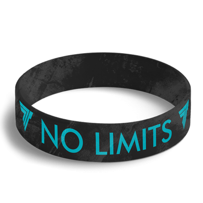 WRISTBAND 063 opaska sportowa - NO LIMITS - BLACK