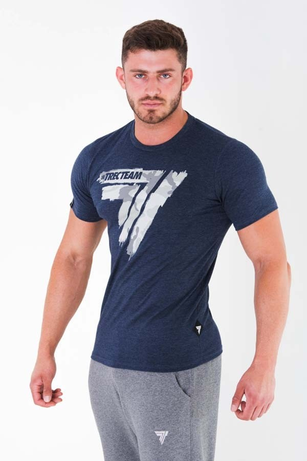 T-SHIRT - PLAY HARD 014 - CAMO - NAVY MELANGE