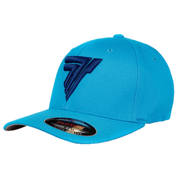 FULLCAP 016 - BLACK LOGO - SEA BLUE