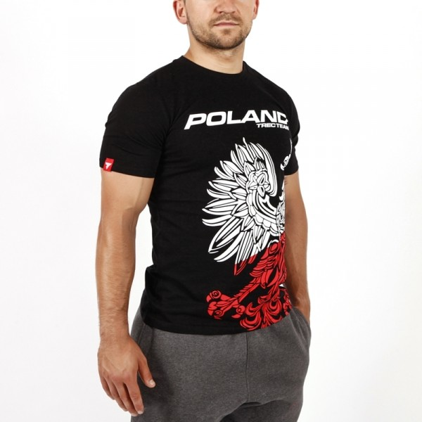 T-SHIRT 041 - TEAM POLAND - BLACK