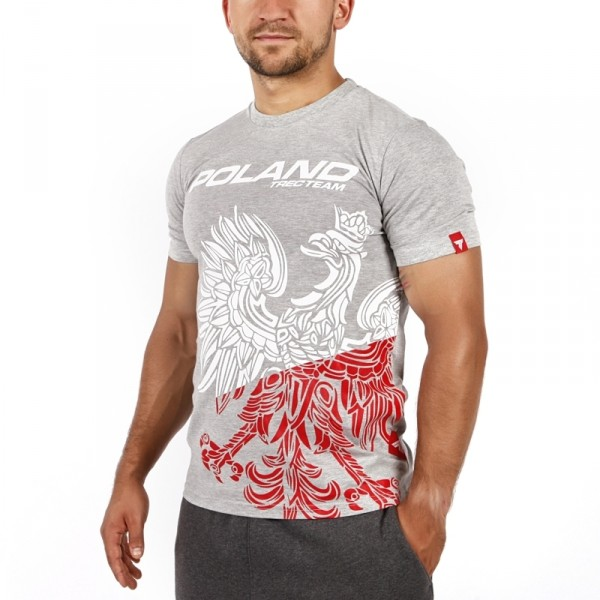 T-SHIRT 042 - TEAM POLAND - MELANGE