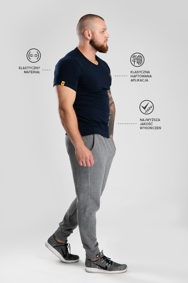 T-shirt V-Neck Trec 03 Navy
