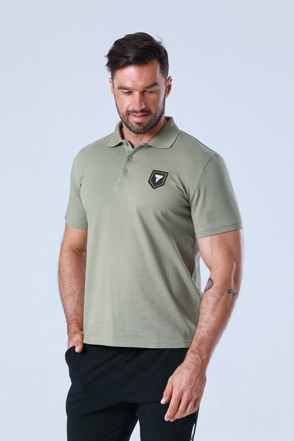POLO 003 CREST OLIVE