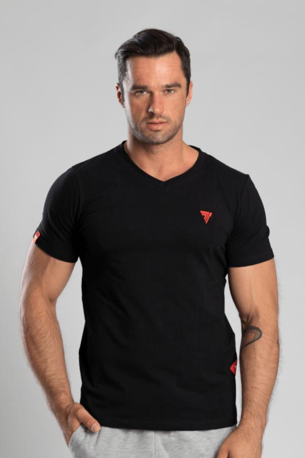 T-shirt V-Neck Trec 02 Black
