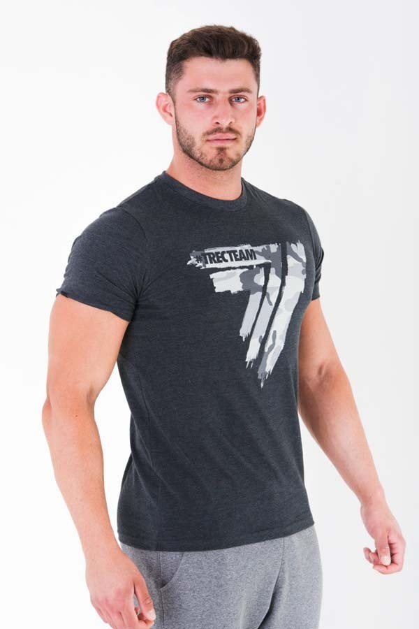 T-SHIRT - PLAY HARD 012 - CAMO - GRAPHITE MELANGE