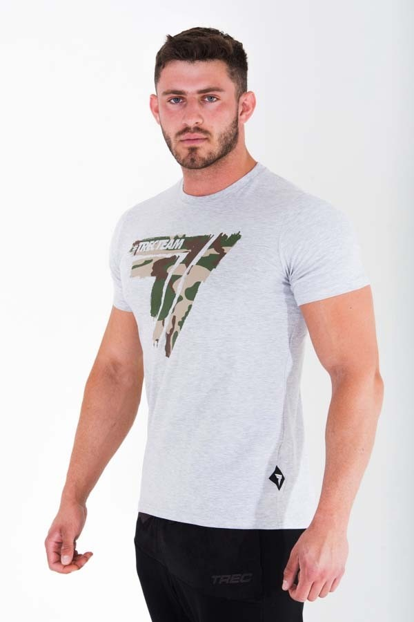 T-SHIRT - PLAY HARD 013 - CAMO - GREY MELANGE