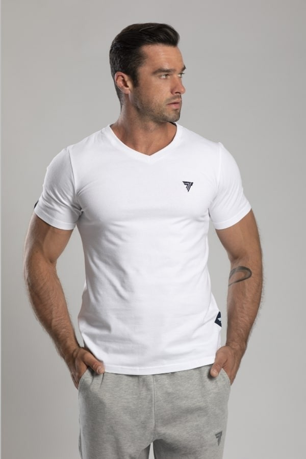 wholesale dealer 8206a af4d4 T-shirt V-Neck Trec 01 White