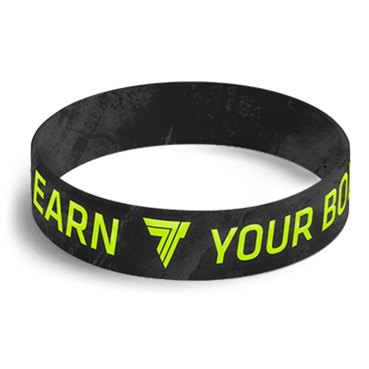 WRISTBAND 059 - YOU EARN YOUR BODY - BLACK