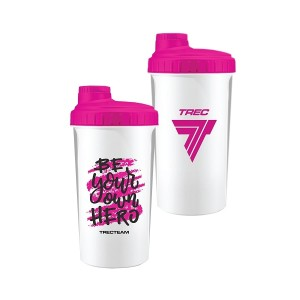 SHAKER 030 - 0,7 l WHITE-PINK - BE YOUR OWN HERO