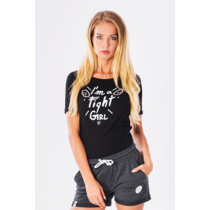 T-SHIRT - TRECGIRL 005 - FIGHT GIRL - BLACK