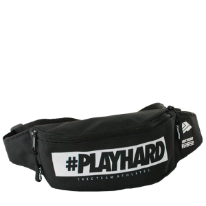SPORT BUMBAG 011 - #PLAYHARD - BLACK