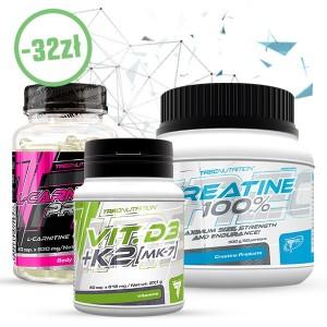 CREATINE 100% + VIT D3+K2 + L-CARNINTINE PRO Gratis