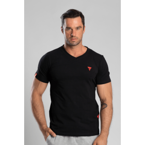 T-shirt V-Neck Trec 02 Black