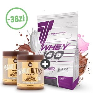 Białko Whey 100 2kg + 2x Peanut Butter (100% orzechów) Gratis