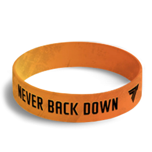 NEVER BACK DOWN WRISTBAND 045 -  NEVER BACK DOWN