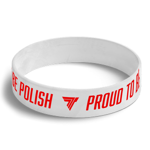 WRISTBAND 066 opaska sportowa - PROUD TO BE POLISH - WHITE