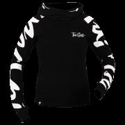 HOODIE 042 - TRECGIRL - BLACK-WHITE