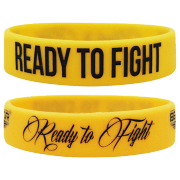"WRISTBAND YELLOW ""READY TO FIGHT"""