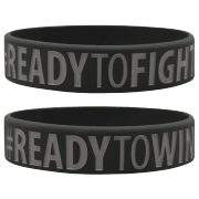 """WRISTBAND GREY """"READY TO WIN - READY TO FIGHT"""""""