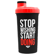SHAKER - STOP WISHING START - 700 ML - BLACK