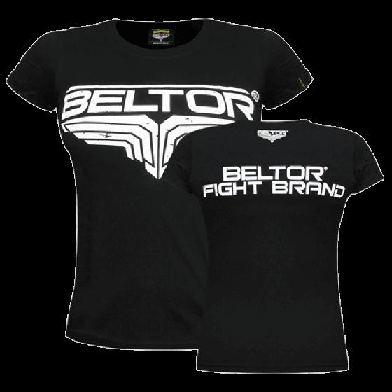 BELTOR - T-SHIRT FIGHT BRAND GIRL - CLASSIC - BLAC